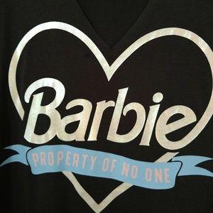 Barbie choker neck shirt sleeved shirt